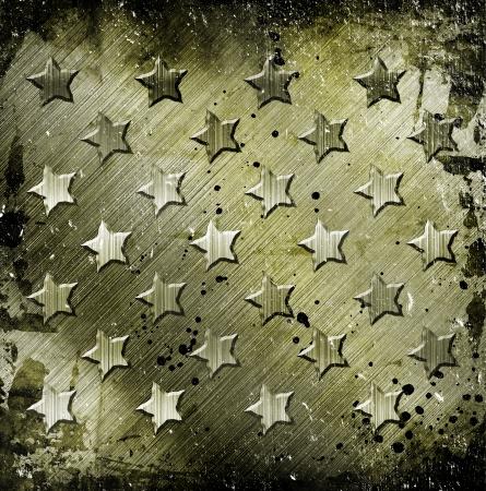 Military Grunge With Stars