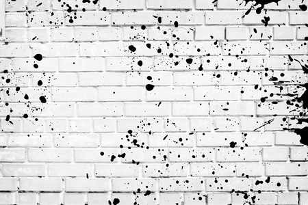Splattered Brick Wall
