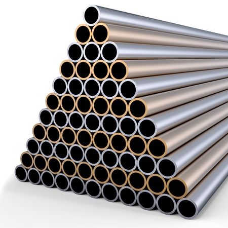 tubes made of rare earth alloys for high-tech production of drugs  in shape of a pyramid folded at stock