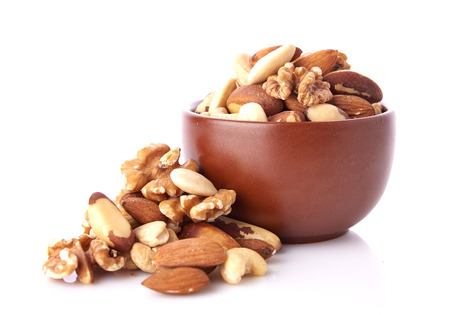 Mix nuts  on white background