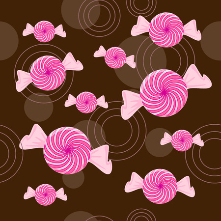 Seamless Peppermint Candy Background