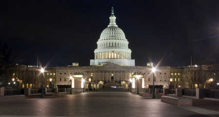 US Capitol building at night, Washington DC  - Eastern facade