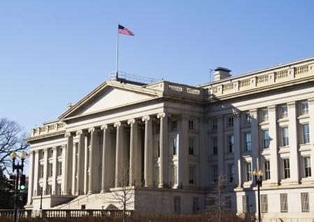 Treasury Department building in Washington, DC