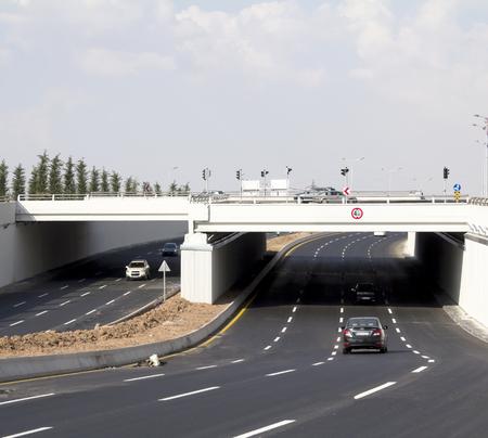 highway under a bridge