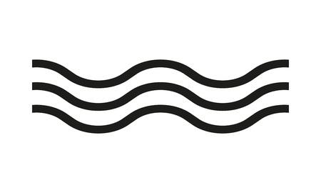 Illustration pour Wave icon. Line water sign. Vector illustration. - image libre de droit