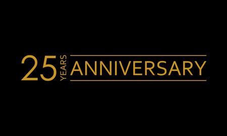 Illustration pour 25 years anniversary icon. 25th birthday emblem. Anniversary design element. Vector illustration. - image libre de droit
