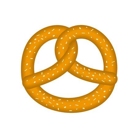 Illustration pour Pretzel. Traditional German pastry for Oktoberfest. Vector illustration.  - image libre de droit