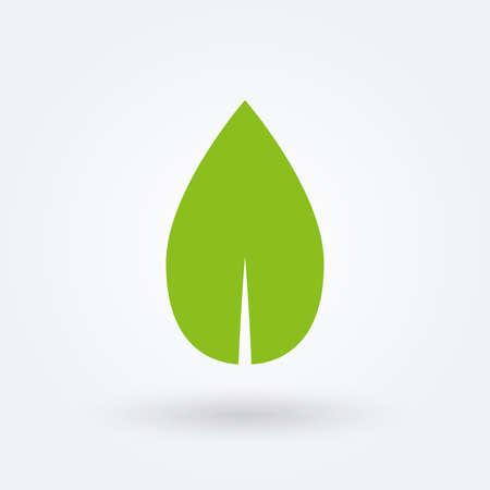 Illustration pour Green Leaf icon. Eco, organic, bio symbol. Vector illustration. - image libre de droit