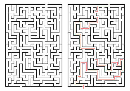 Illustration pour Labyrinth game. Maze or puzzle design. Find the way and right solution for exit. Vector illustration. - image libre de droit