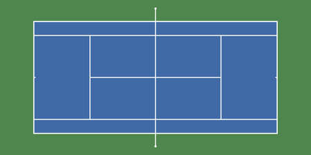 Illustration for Tennis court backround with exact proportions. Top view. Vector illustration. - Royalty Free Image