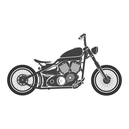 Illustration pour Old vintage motorcycle. retro bobber motorbike. vector illustration - image libre de droit