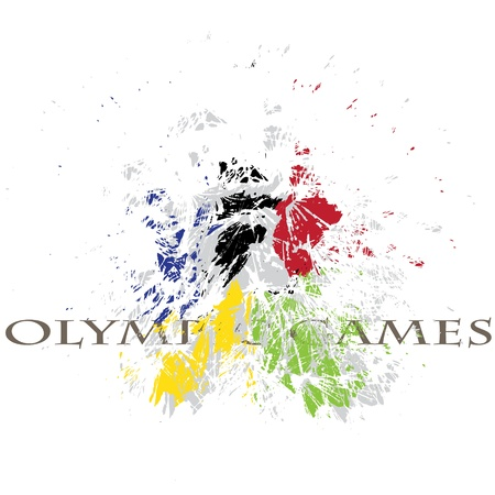 fine image with nice explosion of olympic colors