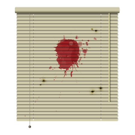 New Isolated Jalousie Icon With Blood Stains And Bullet Hole