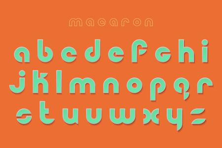 new set of stylish, 3d effect alphabet letters isolated on orange