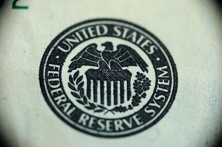one handred dollars - sign of federal reserve system