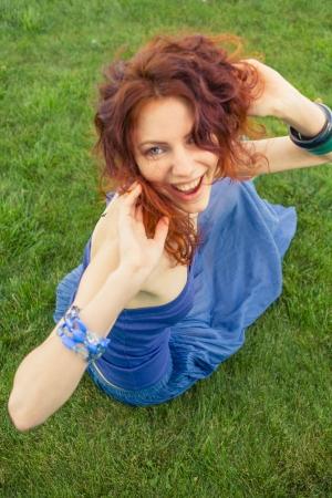 redhead having fun