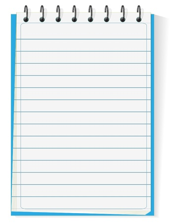 Spiral notepad isolated on white