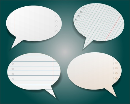 Illustration for Speech bubble in notebook style - Royalty Free Image