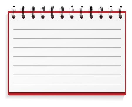 Illustration pour Lined spiral notebook - image libre de droit