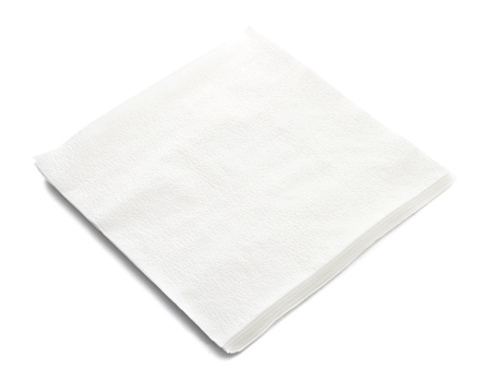 Stack of napkin on white background