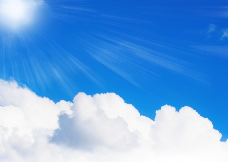 Sunny sky with big cloud