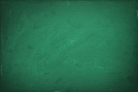 Empty green chalk board background