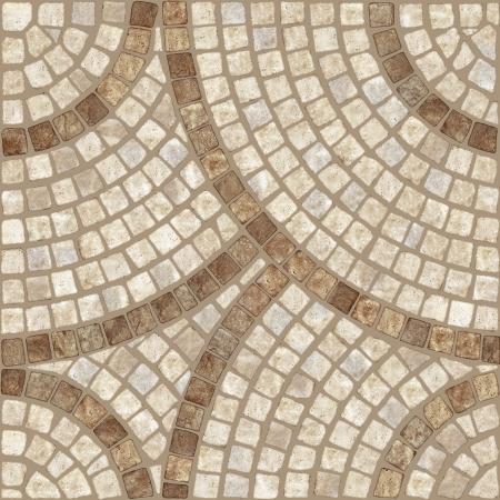 Brown marble-stone mosaic