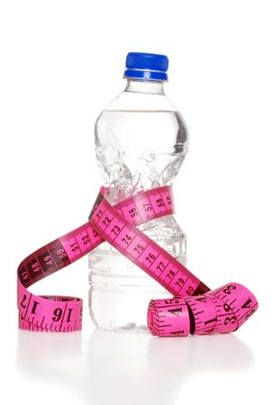 Pink Tape Measure And Water Bottle