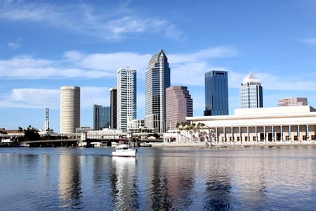 Tampa Skyline - Panoramatic view on modern skyscrapers