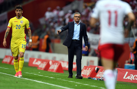 WARSAW, POLAND - JUNE 10, 2017: 2018 World Cup Qualifications / p Adam Nawalka coach of Poland