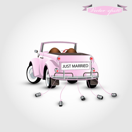 Photo pour just married concept - image libre de droit