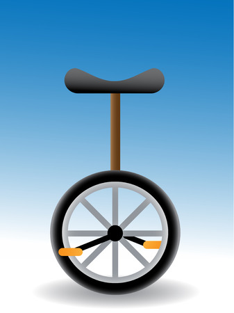 unicycle - simple vector illustration of a  with black seat