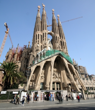Foto per Spain  Barcelona  Sagrada Famiglia Cathedral by Gaudi - Immagine Royalty Free