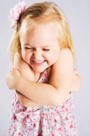 Cute expressive little girl