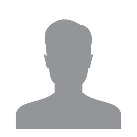Illustration pour Male user icon isolated on a white background. Account avatar for web. User profile picture. Unknown male person silhouette - image libre de droit
