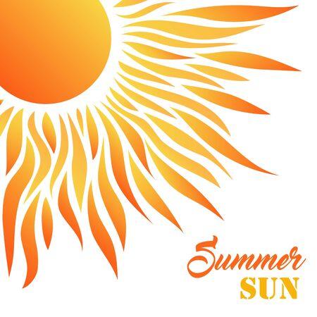 Illustration pour Summer Sun Card. Decorative Desigh for Holiday Greetings - image libre de droit