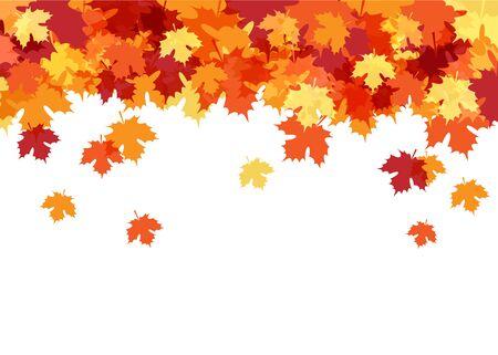Illustration pour Hello Autumn Card with Maple Leaves Decorative Background - image libre de droit