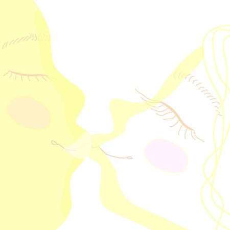 k Letter Logo Template Design Vector illustration kiss