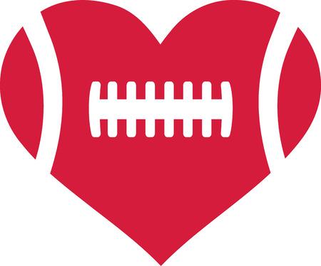 American football heart