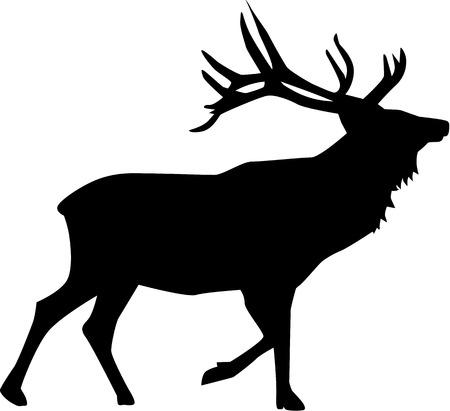 Foto de Deer silhouette - Imagen libre de derechos