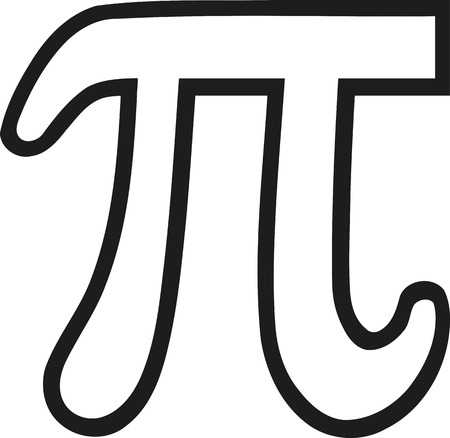 Pi sign outline