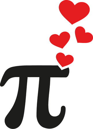 Pi with hearts love