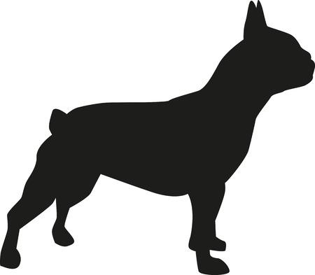 Ilustración de French bulldog silhouette - Imagen libre de derechos