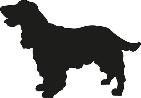 Illustration pour Cocker Spaniel silhouette - image libre de droit