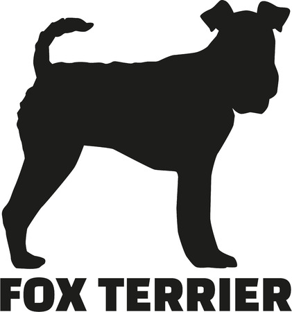 Illustration for Fox Terrier with breed name - Royalty Free Image