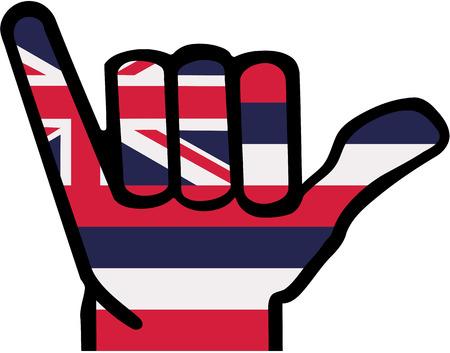 Illustration for Shaka hand Hawaii - Royalty Free Image
