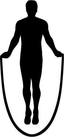 Skipping rope silhouette