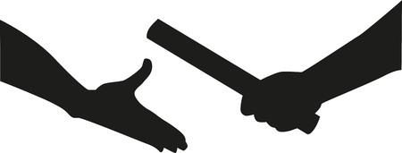 Illustration for Relay hands passing the baton - Royalty Free Image