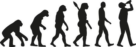 Vektor für Evolution of drinking man - Lizenzfreies Bild