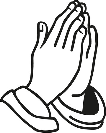 Illustration for Hands praying - Royalty Free Image